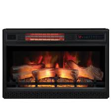 ventless infrared electric fireplace insert with safer plug