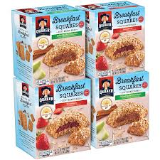 amazon quaker breakfast squares variety pack apple cinnamon strawberry 5 count pack of 4 grocery gourmet food