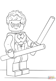 lego nightwing coloring page free printable pages for