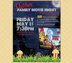 Movie Night Flyer Template J Dornan Us