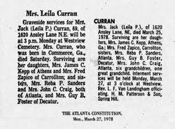 Leila Clementine Prickett Curran (1908-Unknown) - Find A Grave ...
