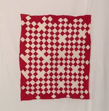 American Antique Quilt Tops For Sale - Vintage Quilt Tops & DQ121 Red & White Bassinette Quilt Top Adamdwight.com