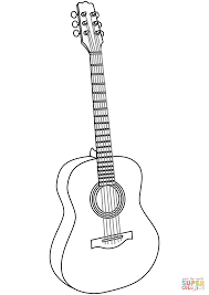 Small Picture Guitar coloring page Free Printable Coloring Pages