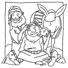 The Good Samaritan Bible Coloring Pages Page Parable Story