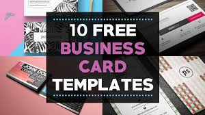 10 Free Business Card Templates For Bloggers Beautiful