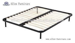 High quality wooden slat bed with 8 legs Queen size bed, View wood ...