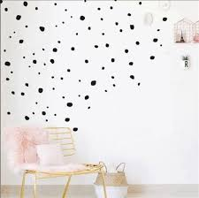 polka dot vinyl wall decalshand painted