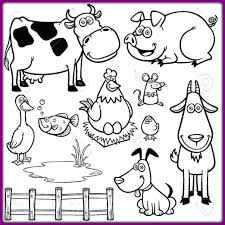 Farm Coloring Pages For Adults Farm Animals Coloring Pages New Easy