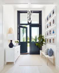 double black front doors with glass