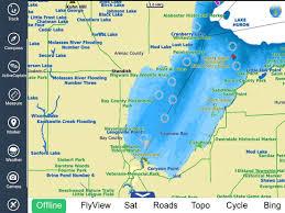 Saginaw Bay Michigan Hd Gps Chart Navigator