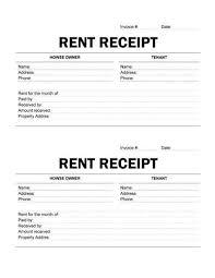 Easy To Print Rent Receipt Receipt Template Free Receipt