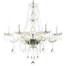 saint mossi crystal raindrop chandelier crystal chandelier lighting x 8 lights fixture pendant ceiling lamp roomba