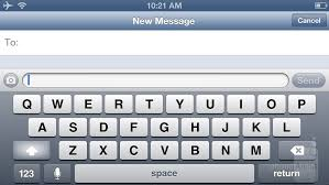 The landscape QWERTY keyboard in the iPhone 5 is slightly bigger