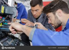 Printer Technician The Young Printer Technician Stock Photo Photography33