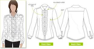 Blouse Sewing Pattern Simple Sissy Blouse Style Arc