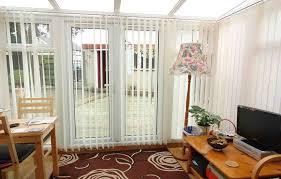 image of sliding door vertical blinds black out