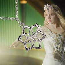 lotr inspired hobbit royal elven galadriel flower clic pendant necklace gift elf