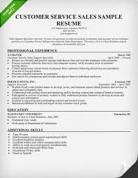 Customer Service Sales Resume - Kerrobymodels.info
