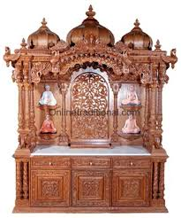 wooden pooja mandir temple for home