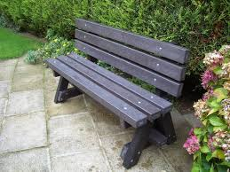 Recycled Plastic Garden Bench with Backrest | Ribble