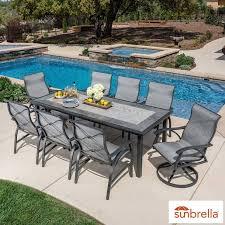 sunvilla santa fe 9 piece sling dining