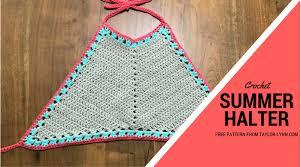 Free Crochet Halter Top Pattern Fascinating Free Summer Crochet Halter Top Pattern Taylor Lynn