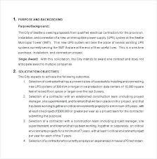 Handyman Proposal Template Contractor Proposal Template Word Bid