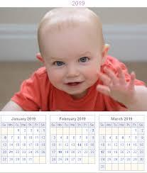 Calendar Generator Calendar Generator Printable Photo And Age Calendar Whenmybaby