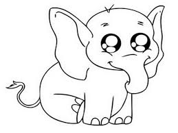 Awesome Of Cute Baby Elephant Coloring Pages Pictures Printable