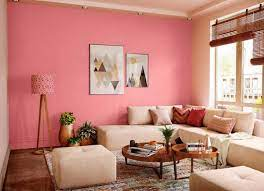 try pink accent house paint colour