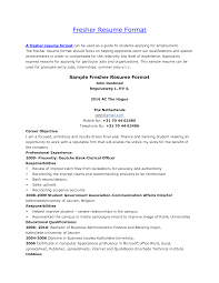 Cover Letter Resume Format For Mba Fresher Resume Format For