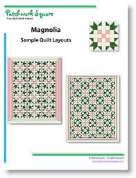 Magnolia - Free Quilt Block Pattern & Magnolia. Free Quilt Block Pattern Adamdwight.com
