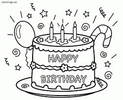 Cute baby lion coloring pages printable. Happy Birthday Cake Coloring Page Printable Happy Birthday Coloring Pages Happy Birthday Coloring Pages Birthday Coloring Pages Free Printable Birthday Cards