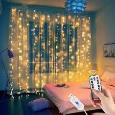 1/2/3M Đèn LED Tiên Đèn Vòng Hoa Màn Dây Đèn Trang Trí Nhà Aaccessories Rèm  Trang Trí Cho Gia Đình cửa Sổ Phòng Ngủ Phụ Kiện Trang Trí Rèm Cửa