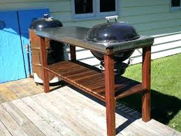 grills stands charcoal grill table plans designs cart diy do joe