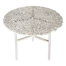 white outdoor side table. Jean White Bronze Lost Wax Cast Butterfly Indoor Or Outdoor Side Table For Sale