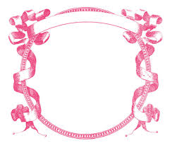 gorgeous vintage graphic frame pink and black