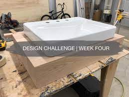 Week 4 Guest Bath Diy Floating Oak Vanity Construction2style