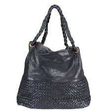 clio washed leather and dyed woven bag