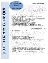 Chef Resume Samples Valid Executive Chef Resume Format Best Sample