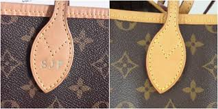 our customer bought this louis vuitton neverfull second hand and it still had the original owners initials embossed on it we removed the embossing and