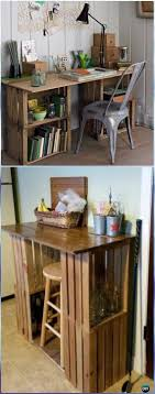 diy wood crate office table instructions diy wood crate furniture ideas projects
