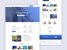 Elearning Design Jobs E Learning Portal Design Concept By K A S M Saif Uddin