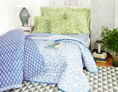 Roberta Roller Rabbit Quilt Big Cata in Aqua. $150. | Para la Casa ... & Blue and green Roberta Roller Rabbit block print bedding mix and match well  with a bold Adamdwight.com