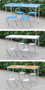 Camping Folding Table And Chairs Set Small Plastic Outdoor Folding Camping Bench Dining Table And