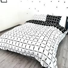 black and white duvet black and white duvet cover set checked quilt cover set white checked