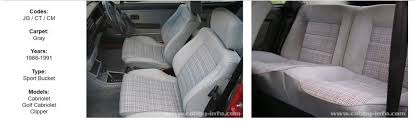 seat covers the mk1 golf owners club