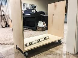 diy mini fridge and microwave cabinet free plans