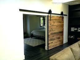 closet barn door with mirror sliding wood doors for bedrooms home repair clos
