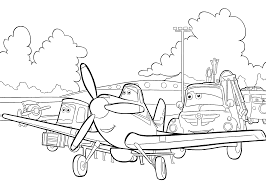 Planes Coloring Pages Dusty Color Bros